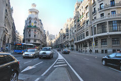 Gran vía - Madrid Imagen de archivo libre de regalías