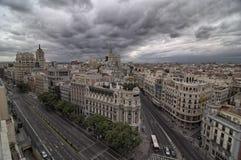 Gran vía Madrid España Fotos de archivo libres de regalías
