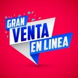 Gran Venta en Linea - Great Online Sale spanish text Royalty Free Stock Photo