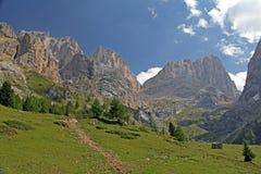 Gran Vernel y Marmolada del valle de Contrin Imagen de archivo libre de regalías