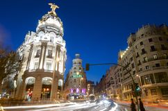 Gran Via Royalty Free Stock Photos