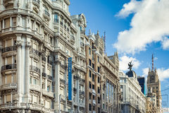 Gran Via Royalty Free Stock Photography