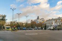 Gran via gatan, Madrid, Spanien Arkivfoton