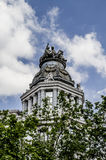 Gran via, Image of the city of Madrid, its characteristic archit Royalty Free Stock Photography