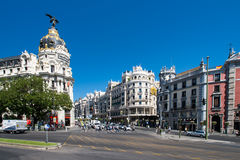 The Gran Via in Madrid Stock Photo