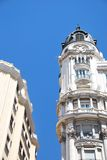 Gran Via, Madrid. Detail of buildings along Gran Via street in Madrid, Spain Royalty Free Stock Photography