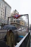 Gran via Madrid Royaltyfria Bilder