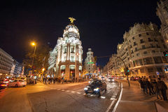 Gran via Madrid Royalty-vrije Stock Fotografie