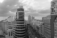 Gran via, Madrid Fotografie Stock