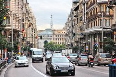 Gran via, Madrid royalty-vrije stock foto's