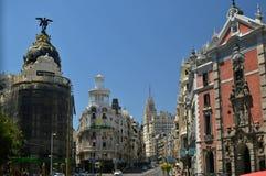 Gran via, Madrid Stock Afbeelding