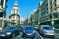 Gran via in Madrid, Spagna Fotografia Stock