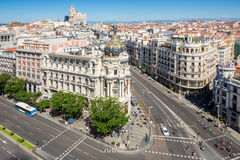 Gran Via Madrid Spain Royalty Free Stock Images