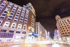 Gran Via. Madrid Stock Photography