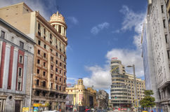 Gran Via in Madrid, Spain Stock Photo