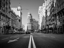 Gran Via, Madrid Royalty Free Stock Photo