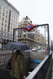 Gran Via Madrid Royalty Free Stock Images