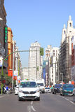 Gran Via in Madrid Royalty Free Stock Photography