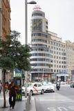 Gran Via in Madrid Stock Photos