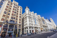 Gran Via in Madrid, Spain Stock Photos