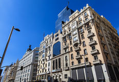 Gran Via in Madrid, Spain Royalty Free Stock Images