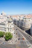 Gran via Madrid Spanje royalty-vrije stock fotografie