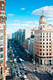 Gran via at morning Stock Photography