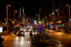 Gran via night life Stock Photos