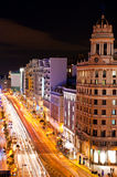 Gran via at night Royalty Free Stock Photos
