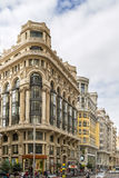 Gran Via street, Madrid Royalty Free Stock Photo