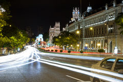 Gran via street in Madrid at night Royalty Free Stock Photography