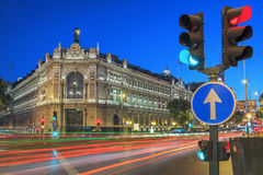 Gran via street in Madrid by night Royalty Free Stock Photography