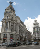 Gran Via street of madrid Stock Image