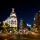 Gran via street in Madrid, Spain