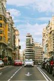 Gran Via Street in Madrid, Spain Stock Photos