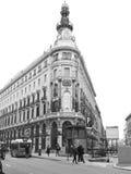 Gran via van Madrid spanje Stock Foto's
