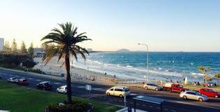 Gran vista de la playa Fotografía de archivo libre de regalías