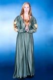 Gran wonan fancy-dress en estilo del renacimiento Imagen de archivo