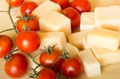 Grana padano  and tomatoes Stock Photo