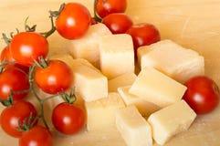 Grana padano  and tomatoes Royalty Free Stock Photo