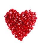 Granaatappel in de vorm van hart royalty-vrije stock foto