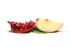 Granaatappel en appel Stock Afbeelding