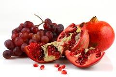 Granaatappel en druiven Royalty-vrije Stock Afbeelding