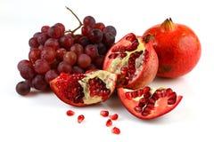 Granaatappel en druiven Royalty-vrije Stock Fotografie