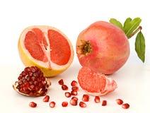 Granaatappel en grapefruit Stock Foto