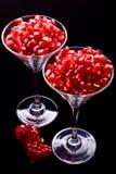 Granaatappel in glas Royalty-vrije Stock Foto