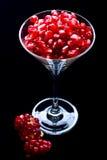 Granaatappel in glas Royalty-vrije Stock Foto's