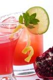 Granaatappel martini en Mojito - populairste haan Stock Afbeeldingen