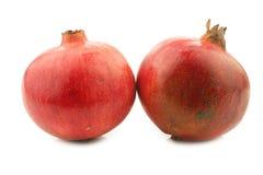 Granaatappel twee & x28; Punica granatum & x29; Royalty-vrije Stock Foto's