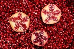 Granaatappels en zaden Stock Foto's
